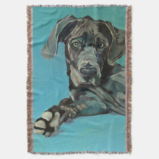 George the Great Dane Throw Blanket