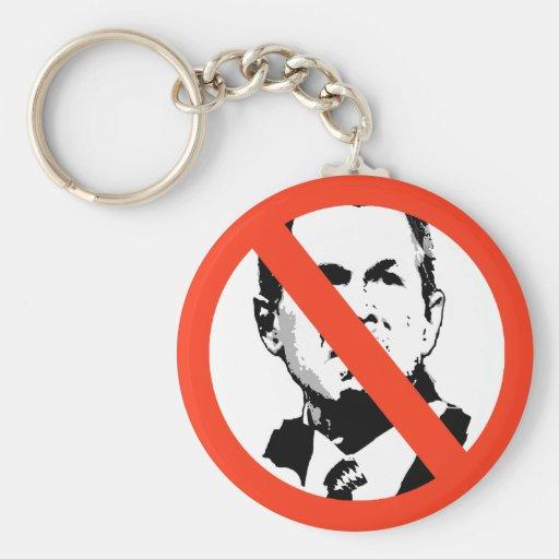George W Bush 3 Keychains