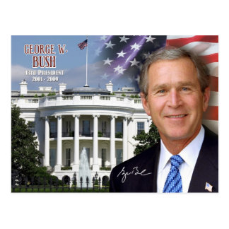 George W. Bush -  43rd President of the U.S. Postcard