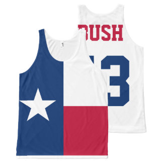 George W Bush 43rd President Texas Flag All-Over-Print Tank Top