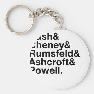 George W. Bush Cabinet Ampersand Basic Round Button Keychain