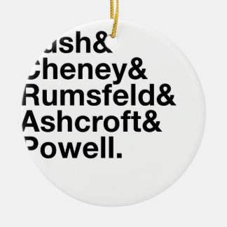 George W. Bush Cabinet Ampersand Round Ceramic Ornament