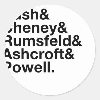 George W. Bush Cabinet Ampersand Round Sticker