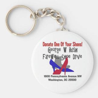 George W Bush Farewell Shoe Drive Basic Round Button Keychain