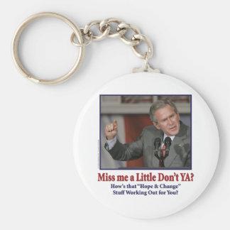George W Bush Miss Me a Little Basic Round Button Keychain