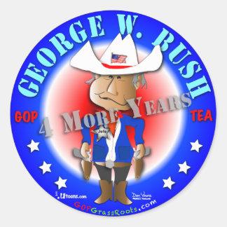 George W. Bush Round Sticker