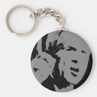 George W Bush silhouette Basic Round Button Keychain