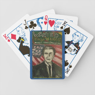 GEORGE W BUSH WANTED POKER CARDS