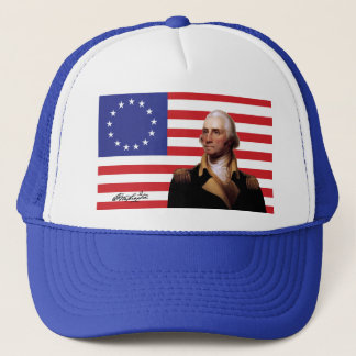 George Washington & 13-Star U.S. Flag Trucker Hat