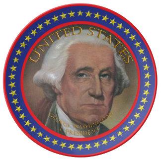 George Washington 1st President Plate