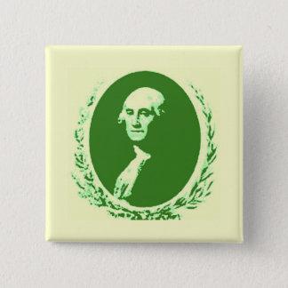 George Washington 2 Inch Square Button