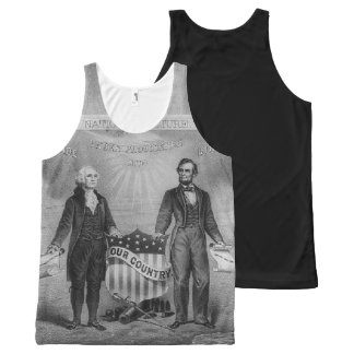 George Washington Abraham Lincoln Patriotic USA All-Over-Print Tank Top