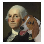 George Washington and his Foxhound Poster