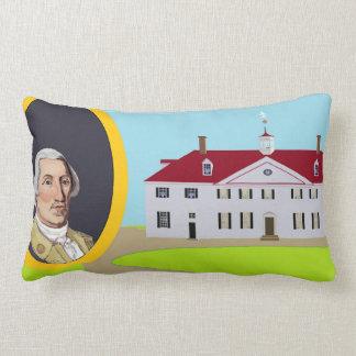 George Washington and Mt Vernon Lumbar Pillow