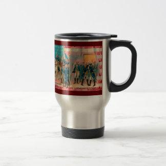 George Washington and Troops Travel Mug