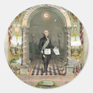 George Washington as a Freemason Classic Round Sticker