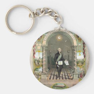 George Washington as a Freemason Keychain