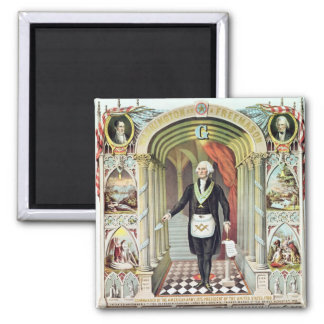 George Washington as a Freemason Square Magnet
