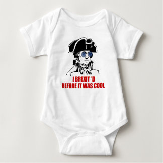 George Washington Brexit 1776 EU Flag Sunglasses Baby Bodysuit