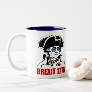 George Washington Brexit 1776 EU Flag Sunglasses Two-Tone Coffee Mug