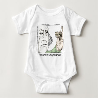 George Washington Bridge & Dentures Funny Gift Baby Bodysuit