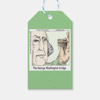 George Washington Bridge & Dentures Funny Gift Gift Tags