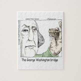 George Washington Bridge & Dentures Funny Gift Jigsaw Puzzle