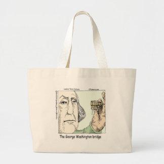 George Washington Bridge & Dentures Funny Gift Large Tote Bag