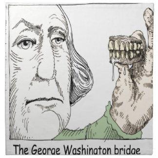 George Washington Bridge & Dentures Funny Gift Napkin