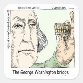 George Washington Bridge & Dentures Funny Gift Square Sticker
