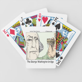 George Washington Bridge Funny Gifts Bicycle Playing Cards