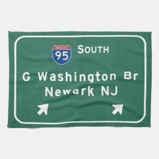 George Washington Bridge Interstate I-95 Newark NJ Hand Towels