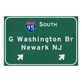 George Washington Bridge Interstate I-95 Newark NJ Poster