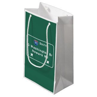 George Washington Bridge Interstate I-95 Newark NJ Small Gift Bag