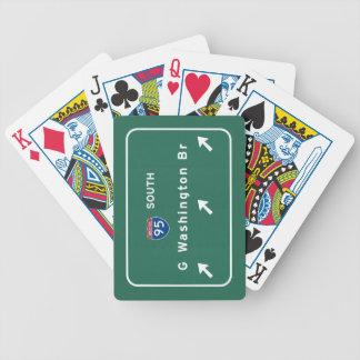 George Washington Bridge NYC New York City NY Bicycle Playing Cards