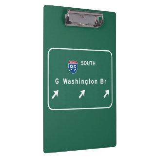 George Washington Bridge NYC New York City NY Clipboards