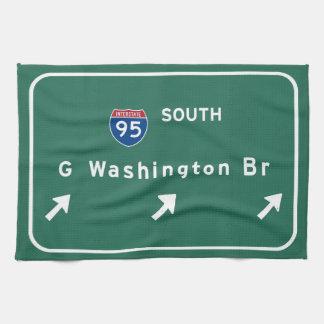 George Washington Bridge NYC New York City NY Hand Towel