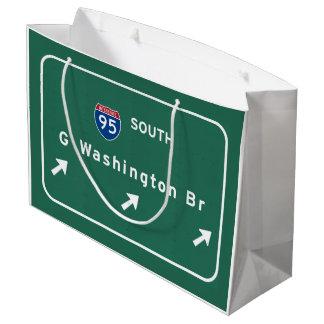 George Washington Bridge NYC New York City NY Large Gift Bag