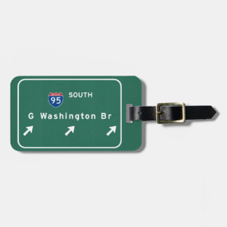 George Washington Bridge NYC New York City NY Luggage Tag