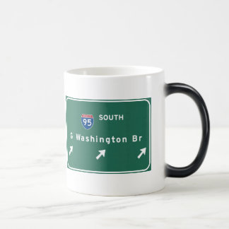 George Washington Bridge NYC New York City NY Magic Mug