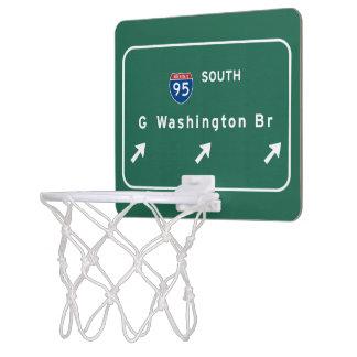 George Washington Bridge NYC New York City NY Mini Basketball Hoop