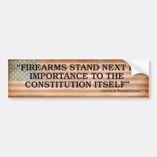 GEORGE WASHINGTON- Bumper Sticker