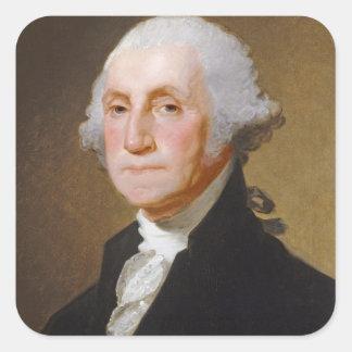 George Washington, c.1821 (oil on canvas) Square Sticker