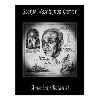 George Washington Carver ~ Botanist & Inventor ~ Postcard