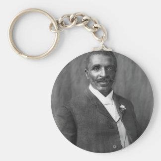 George Washington Carver scientist botanist Basic Round Button Keychain