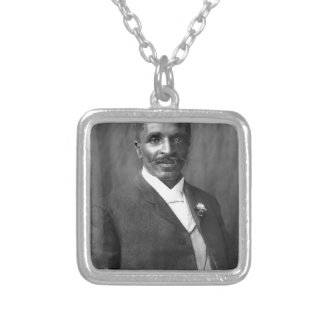 George Washington Carver scientist botanist Silver Plated Necklace