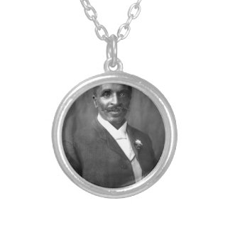 George Washington Carver Silver Plated Necklace