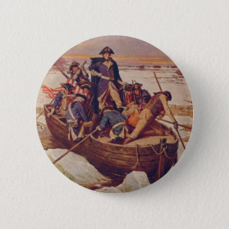 George Washington Crossing the Delaware River 2 Inch Round Button