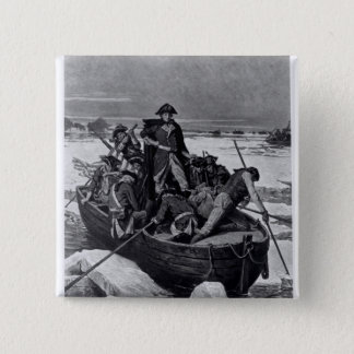 George Washington crossing the Delaware River 2 Inch Square Button