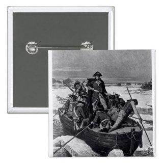 George Washington crossing the Delaware River 2 Inch Square Button